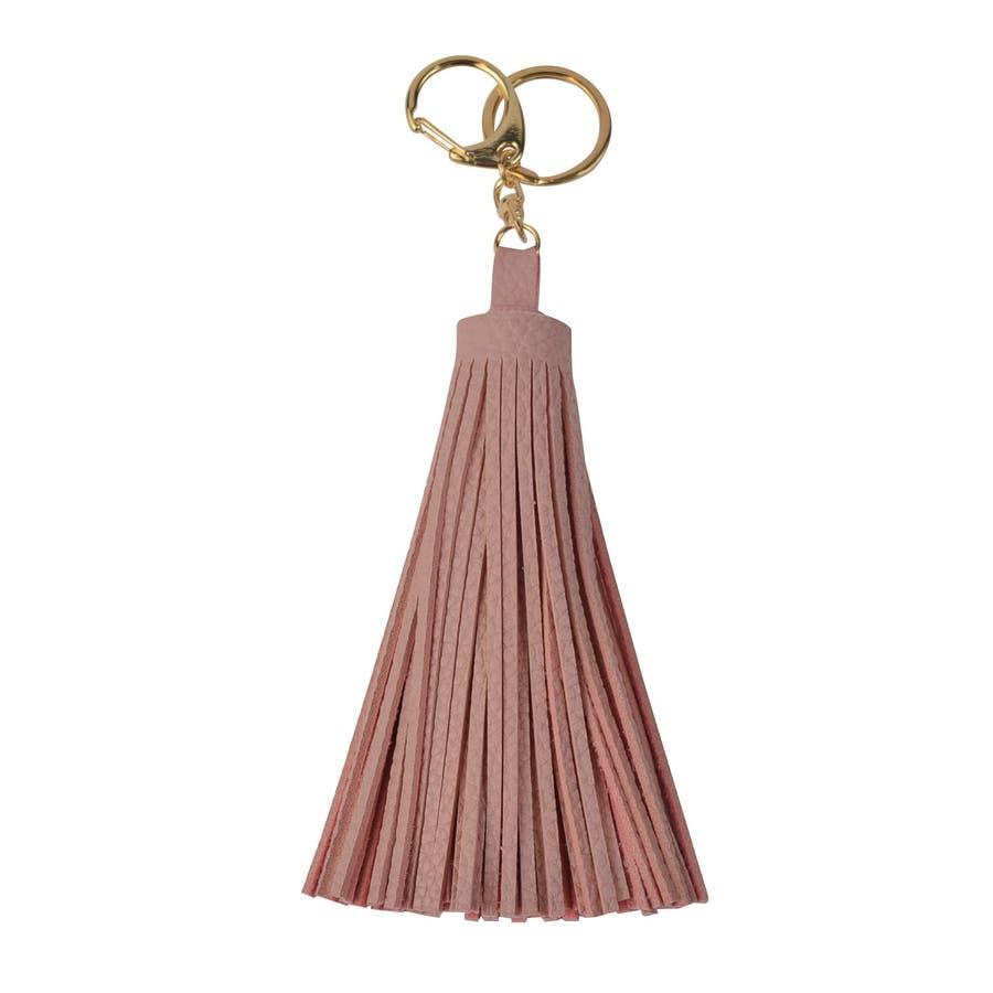 (合皮ラージサイズタッセルキーホルダー)タッセル バッグチャーム バッグ チャーム キーホルダー キーチャーム プレゼント 女性 合皮フェイクレザー 87