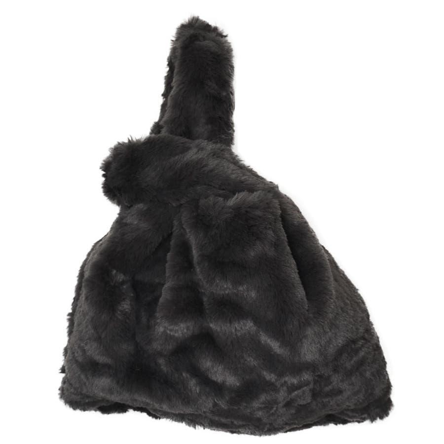 (フェイクファーショッパーミニバッグ)ファーバッグ トートバッグ レディース トートバック トート バッグ カバン 鞄 バックbagショッパー フェイクファー ミニバッグ 25