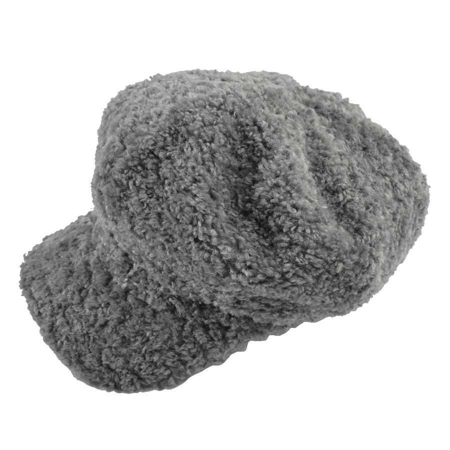 (プードルファーキャスケット)キャスケット レディース ファー エコファー マドロスハット マリンハット 帽子 ハットもこもこかわいい ボリューム プードル 23