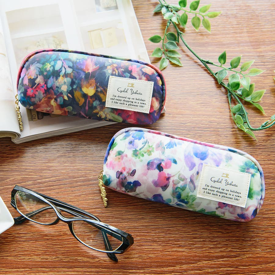 メガネケース チャーミングビオラ / メガネケース 眼鏡ケース サングラスケース レディース かわいい 花柄おしゃれソフトケースギフト プレゼント 1