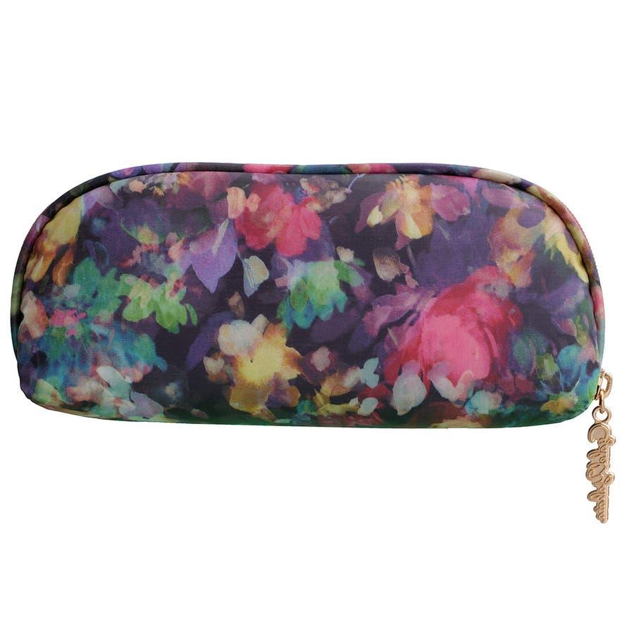 メガネケース チャーミングビオラ / メガネケース 眼鏡ケース サングラスケース レディース かわいい 花柄おしゃれソフトケースギフト プレゼント 4