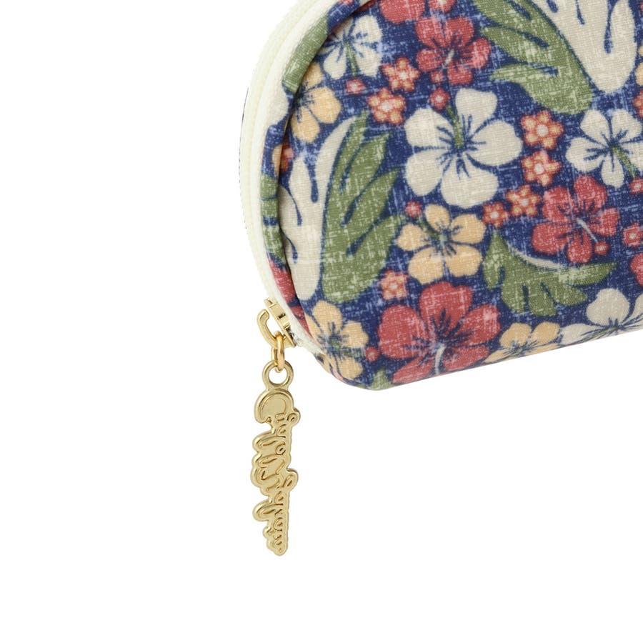 ファスナー付きメガネケース ハイビスリーフ / メガネケース 眼鏡ケース サングラスケース レディース かわいい花柄おしゃれソフトケース ギフト プレゼント 5