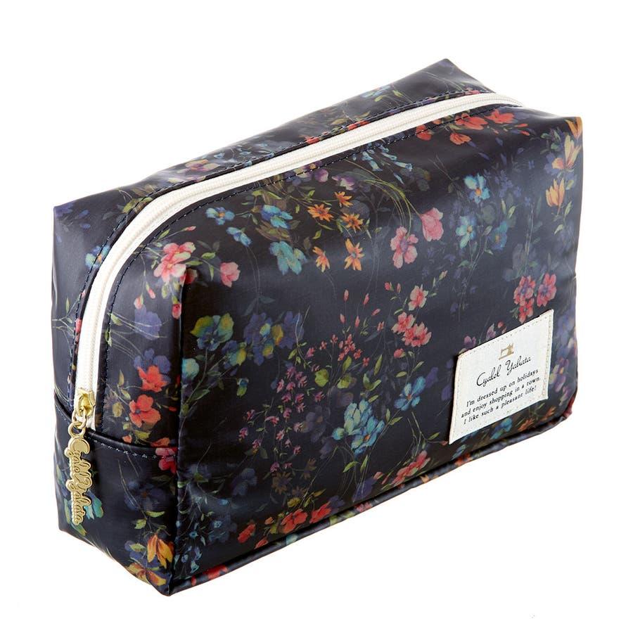 フローフロー スクエアポーチ (L) / トラベルポーチ 旅行ポーチ おしゃれ 化粧品 日本製 機能的 ギフト プレゼント 3
