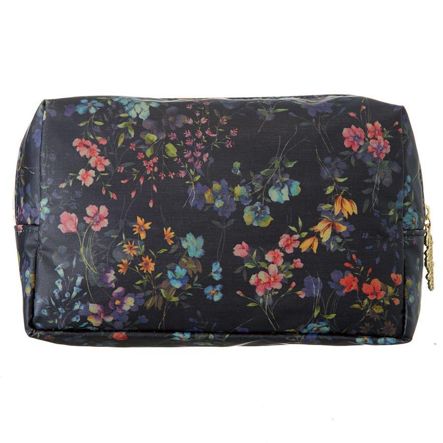 フローフロー スクエアポーチ (L) / トラベルポーチ 旅行ポーチ おしゃれ 化粧品 日本製 機能的 ギフト プレゼント 4