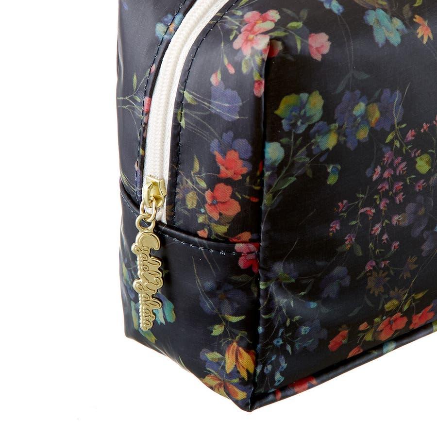 フローフロー スクエアポーチ (L) / トラベルポーチ 旅行ポーチ おしゃれ 化粧品 日本製 機能的 ギフト プレゼント 5