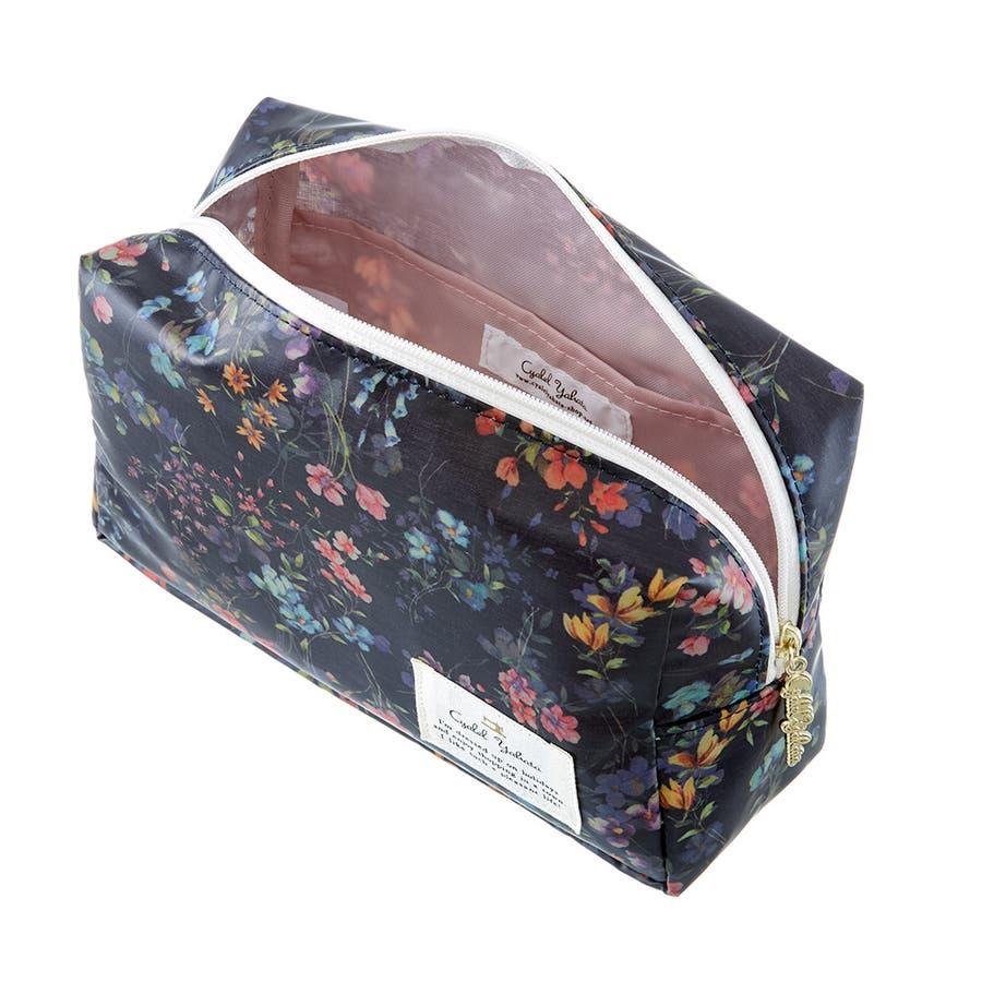 フローフロー スクエアポーチ (L) / トラベルポーチ 旅行ポーチ おしゃれ 化粧品 日本製 機能的 ギフト プレゼント 6