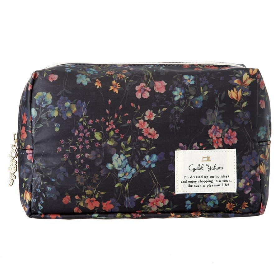 フローフロー スクエアポーチ (L) / トラベルポーチ 旅行ポーチ おしゃれ 化粧品 日本製 機能的 ギフト プレゼント 64