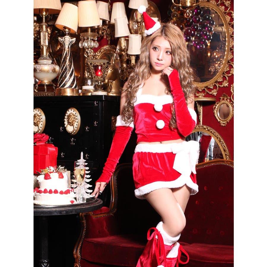 b7ebcf2d53039 サンタ コスプレサンタ衣装☆ M Lサイズ  5点セット セパレートトップス ...