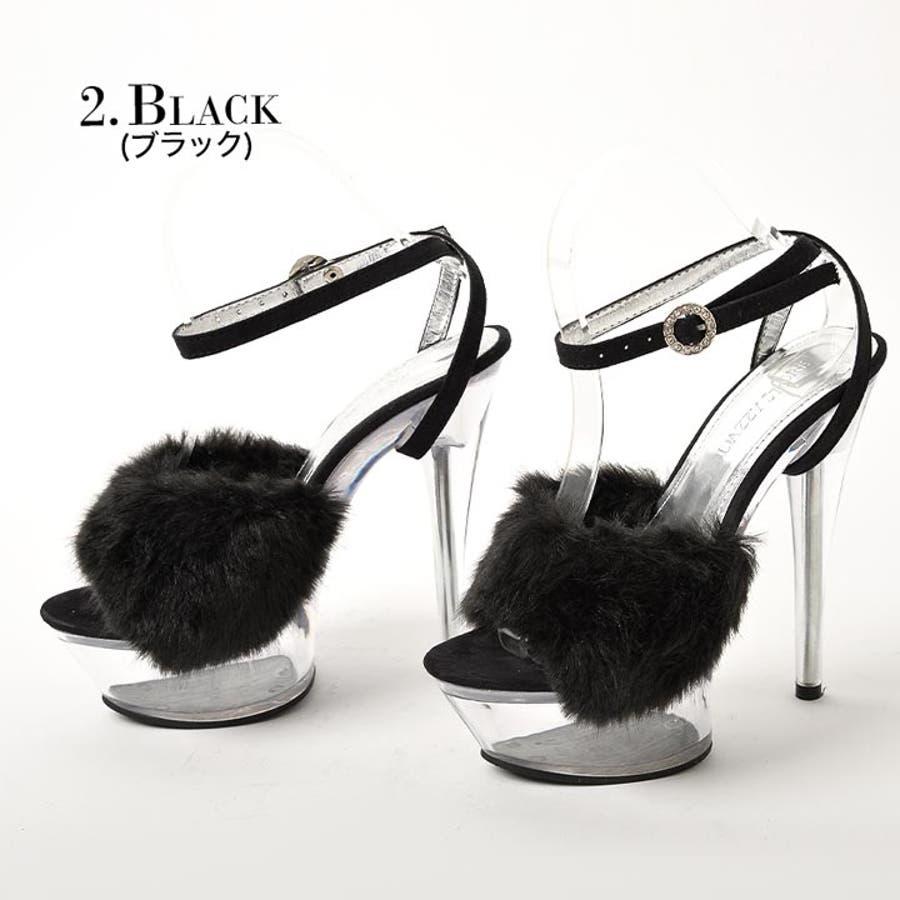 サンダル キャバ 靴 [15cmヒール ...