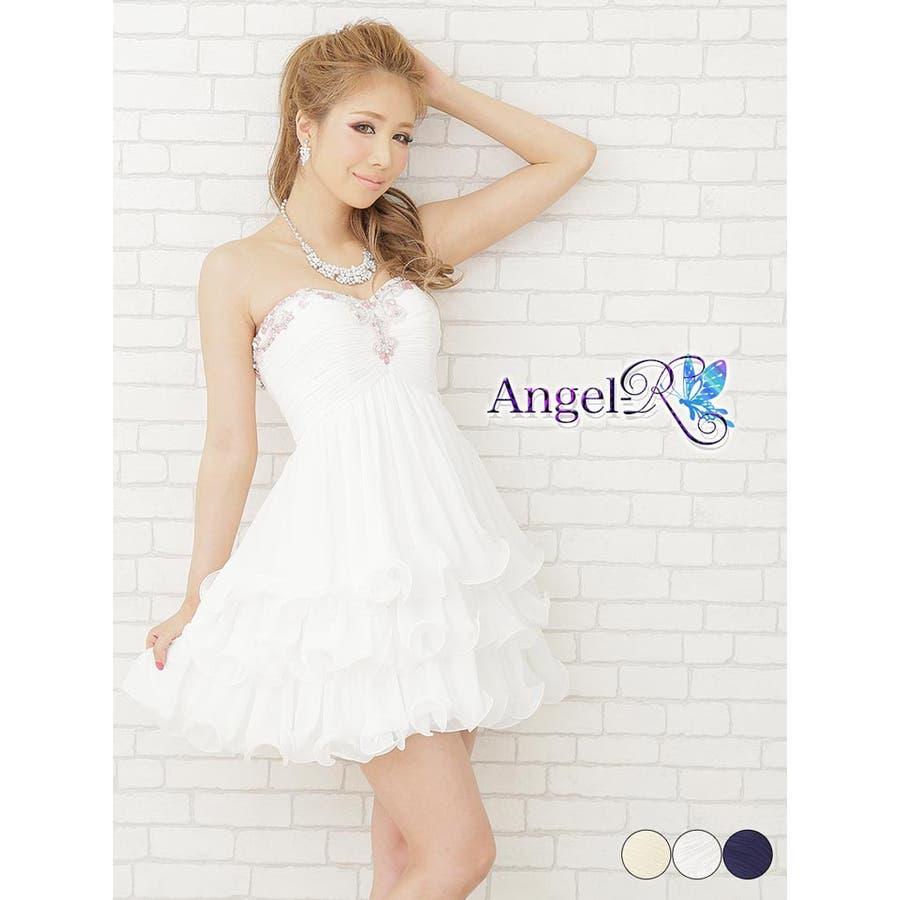 d67c56e36e649 ドレス キャバ キャバドレス ☆ AngelR カラービジュー amp ビーズ付背中 ...
