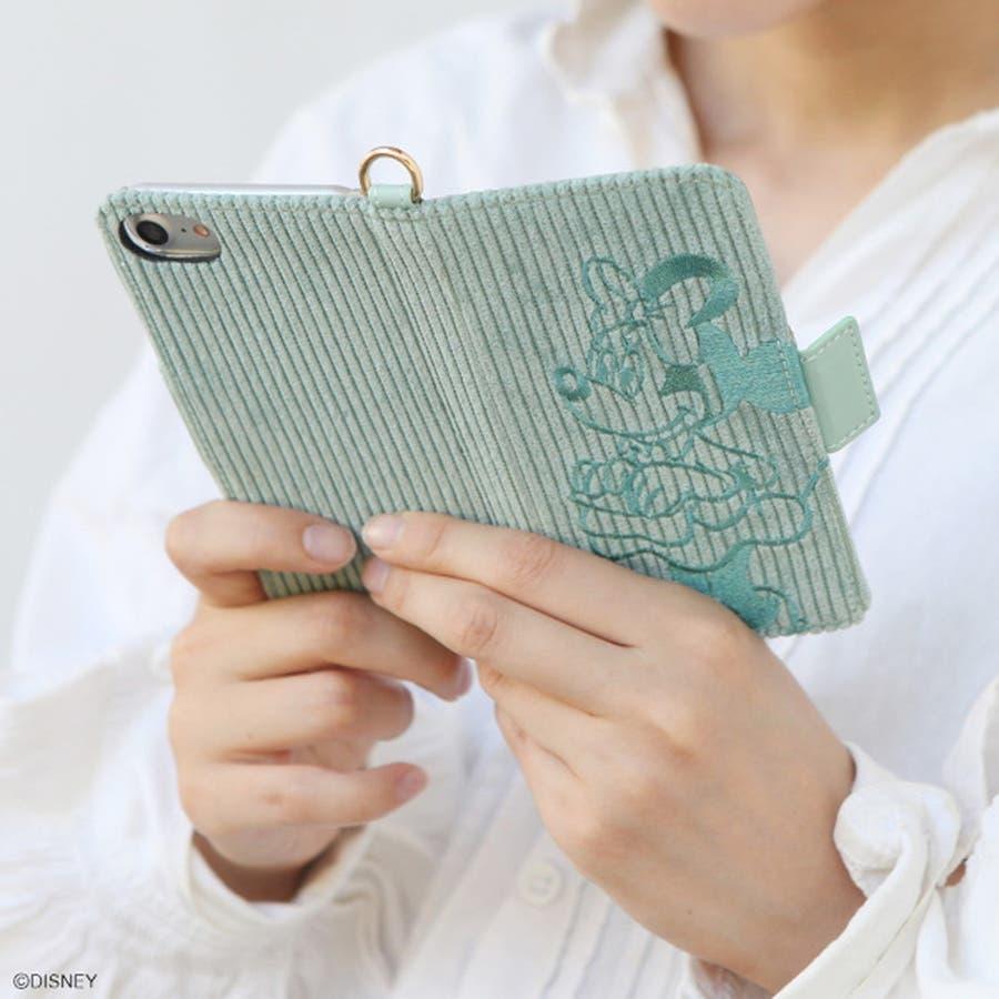iPhone ケース レディース ユニセックス ディズニー コーデュロイ iPhone8 アイフォン8 7 6s 6 対応スマホケースアイフォンケース ACCOMMODE アコモデ D-XB975 ミッキーマウス ミニーマウス ヴィンテージ スモーキー コーデインスタ映え ショッピング ギフト 1