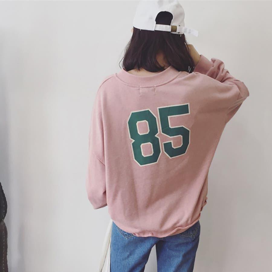 ★トレンドファッション♪バックプリントトレーナー★2016秋冬新作 裏起毛 トップス 韓国ファッション 刺繍 4
