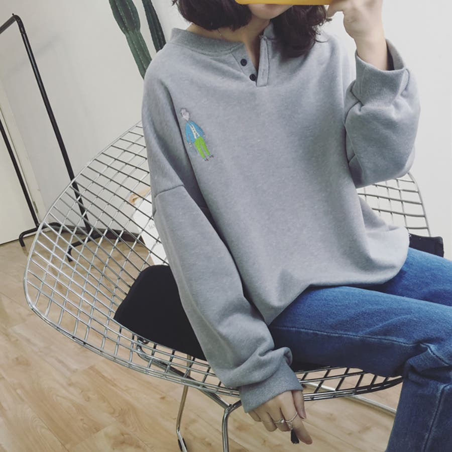 ★トレンドファッション♪バックプリントトレーナー★2016秋冬新作 裏起毛 トップス 韓国ファッション 刺繍 5