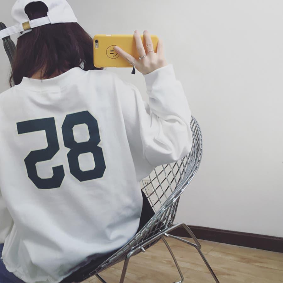 ★トレンドファッション♪バックプリントトレーナー★2016秋冬新作 裏起毛 トップス 韓国ファッション 刺繍 6