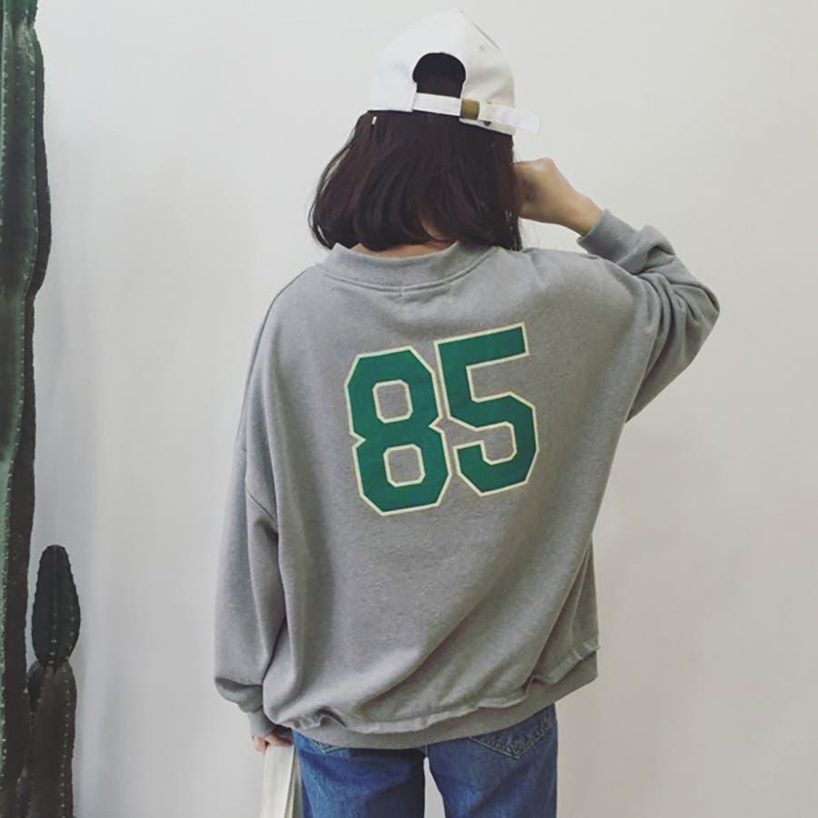 ★トレンドファッション♪バックプリントトレーナー★2016秋冬新作 裏起毛 トップス 韓国ファッション 刺繍 2