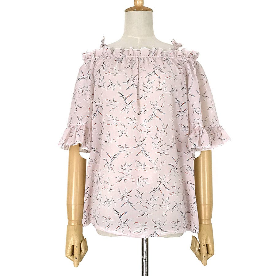 ★トレンドファッション♪花柄ボートネックブラウス★2018春夏新作 韓国ファッション 6