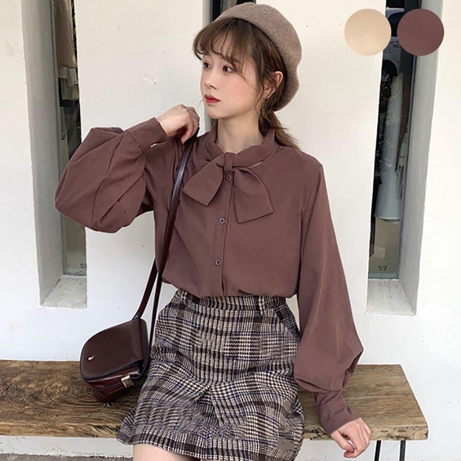 ☆トレンドファッション♪リボンデザインシャツ☆春夏新作 韓国 ...