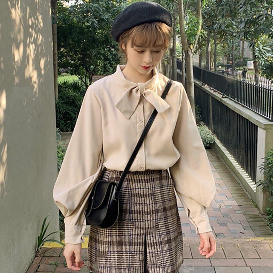 リボンデザインシャツ 春夏新作 韓国ファッション 2