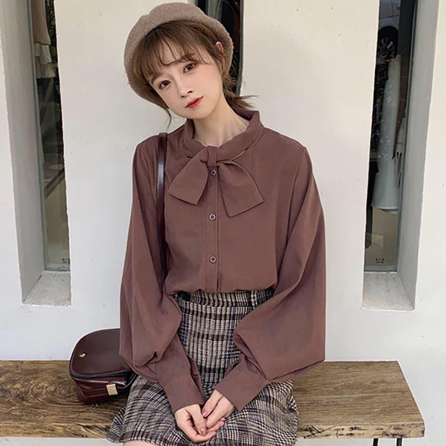 リボンデザインシャツ 春夏新作 韓国ファッション 3