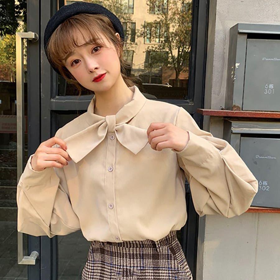 リボンデザインシャツ 春夏新作 韓国ファッション 41