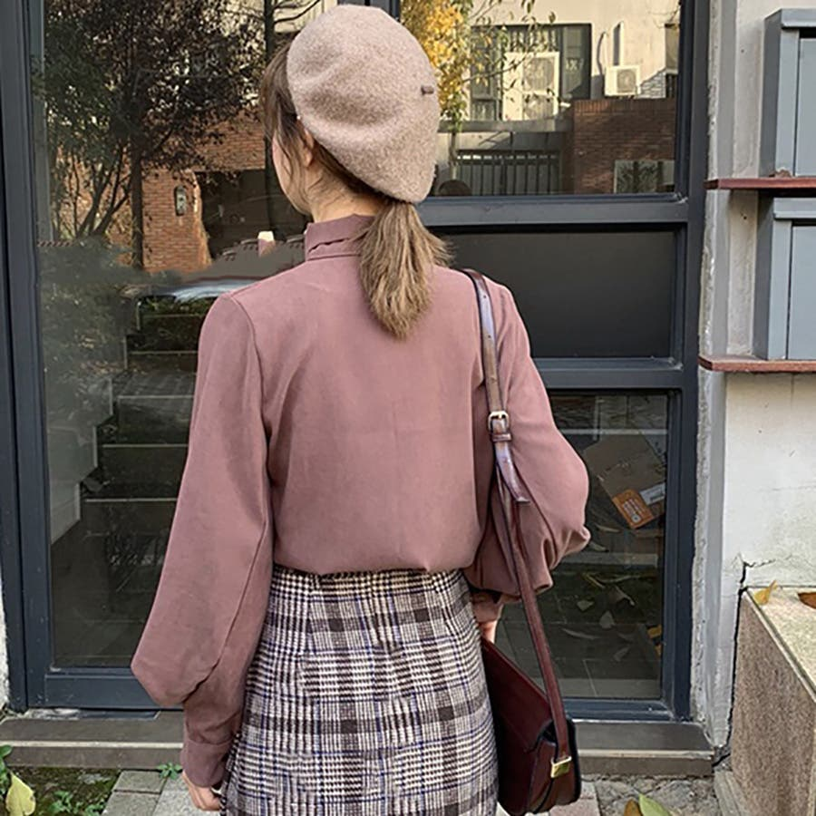 リボンデザインシャツ 春夏新作 韓国ファッション 5