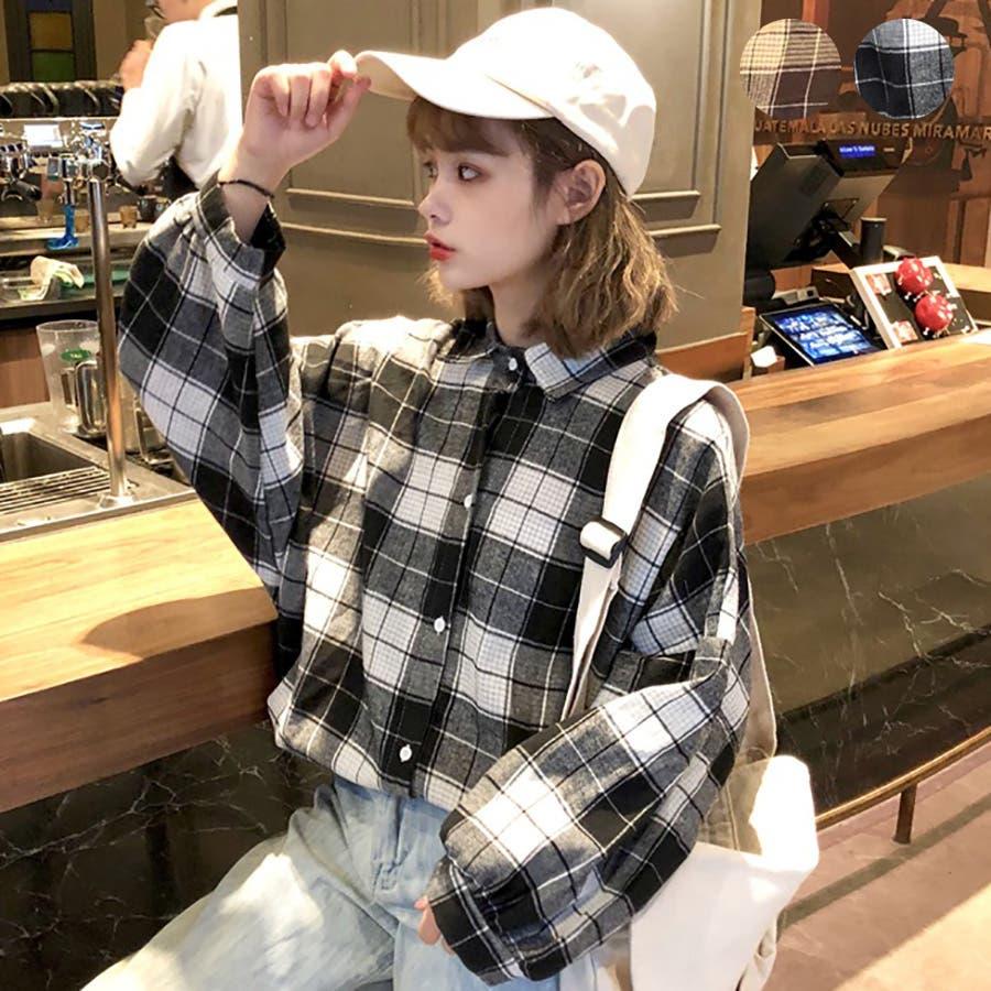★トレンドファッション♪チェック柄シャツ★秋冬新作 韓国ファッション 22