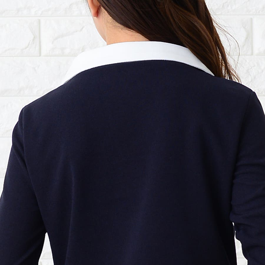 de2bdb2a8e80b ワンピース ラウンドカラー 丸襟 長袖 襟付き 上品 清楚 きれいめ 結婚式 ...