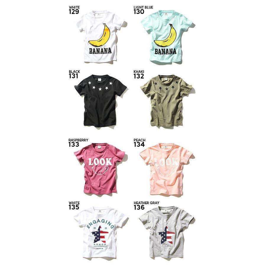 [devirock 全20柄 サーフ&アメカジ&バナナ&スター&ロゴプリント半袖Tシャツ カットソー 綿100%] 星 トップス子供服キッズ ベビー ジュニア 韓国子供服 男の子 女の子 子ども セール ダンス M1-4 3