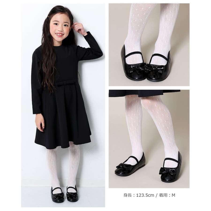 [devirock ドットタイツ 女の子 靴下 タイツ 全1色 S-L] 子供服 キッズ ベビー ジュニア 韓国子供服 子ども ダンスM1-1 3