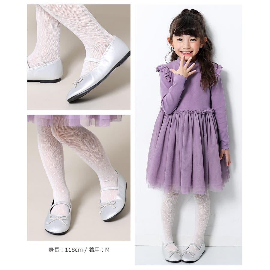 [devirock ドットタイツ 女の子 靴下 タイツ 全1色 S-L] 子供服 キッズ ベビー ジュニア 韓国子供服 子ども ダンスM1-1 4