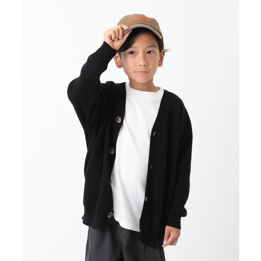 [devirock コットン混リラックスカーディガン 男の子 女の子 トップス 羽織り 長袖 長そで] 無地 子供服 キッズ ベビージュニア 韓国子供服 子ども 21