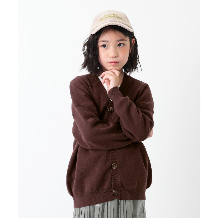 [devirock コットン混リラックスカーディガン 男の子 女の子 トップス 羽織り 長袖 長そで] 無地 子供服 キッズ ベビージュニア 韓国子供服 子ども 31