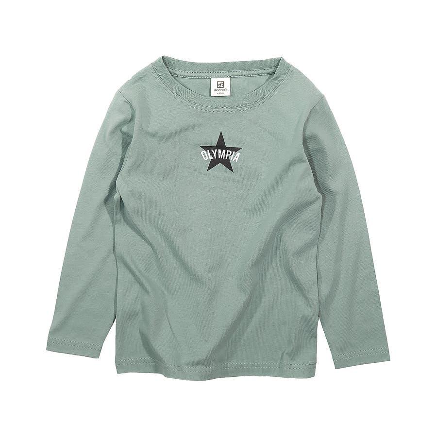 デビラボ プリント長袖Tシャツ 子供服 50