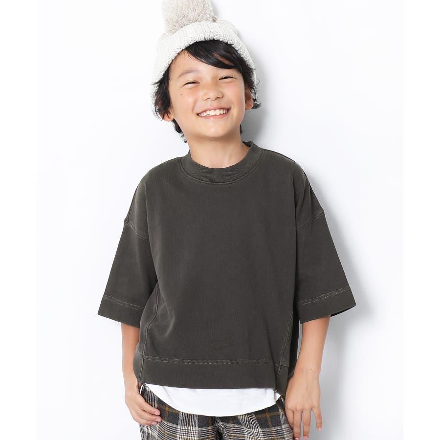 ピグメント加工コクーンTシャツ 子供服 キッズ 21