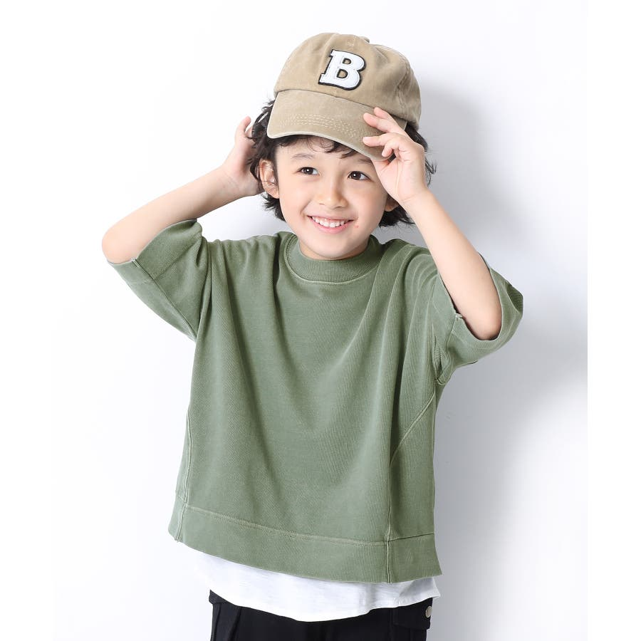 ピグメント加工コクーンTシャツ 子供服 キッズ 58