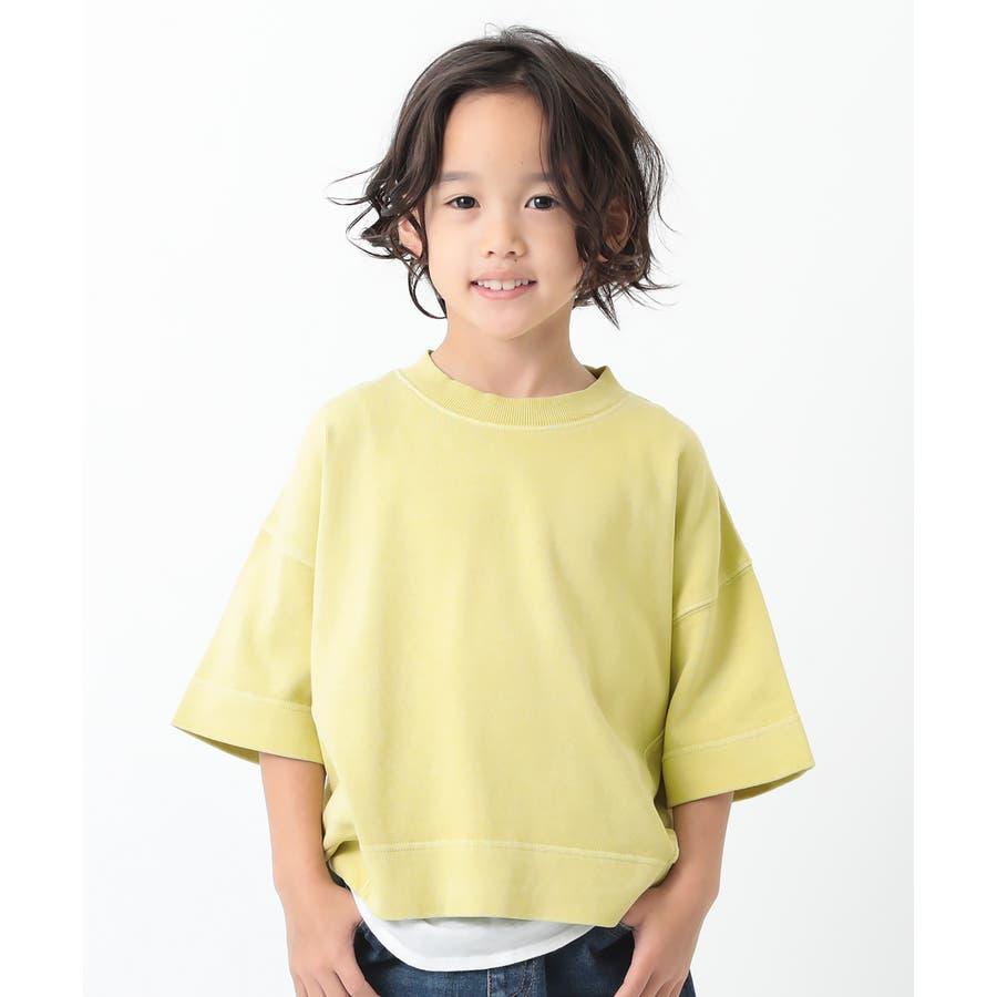 ピグメント加工コクーンTシャツ 子供服 キッズ 83