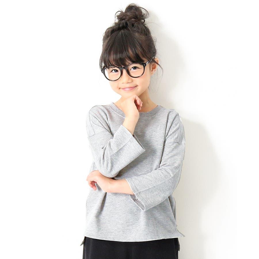 [devirock ミニ裏毛7分袖Tシャツ 男の子 女の子 トップス 長袖 長そで スウェット 全14色 80-160]綿100%シンプル 無地 子供服 キッズ ベビー ジュニア 韓国子供服 子ども ダンス M1-1 3