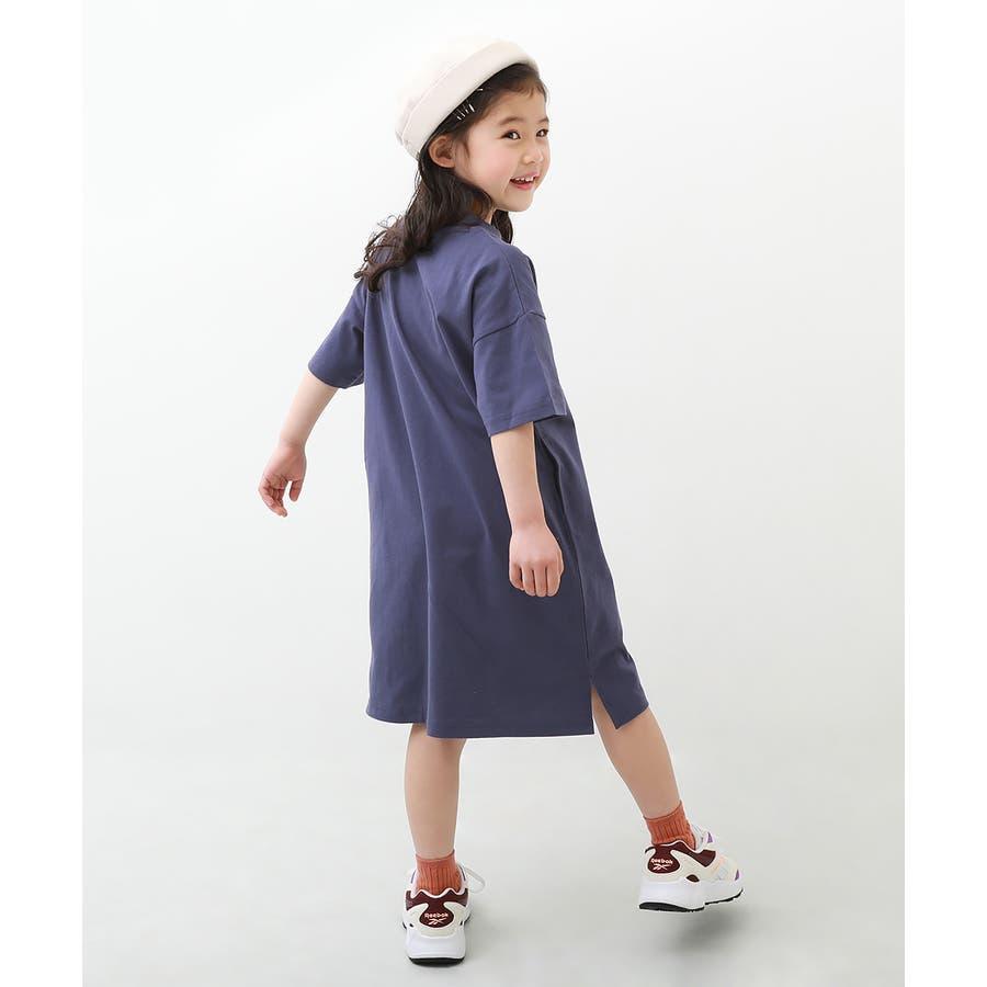 [BIGシルエットロング丈ワンピース 女の子 ワンピース 半袖 半そで] 綿100% トップス 半袖 半そで Tシャツ 子供服 中学生キッズベビー ジュニア 韓国子供服 子ども ダンス M1-2 82
