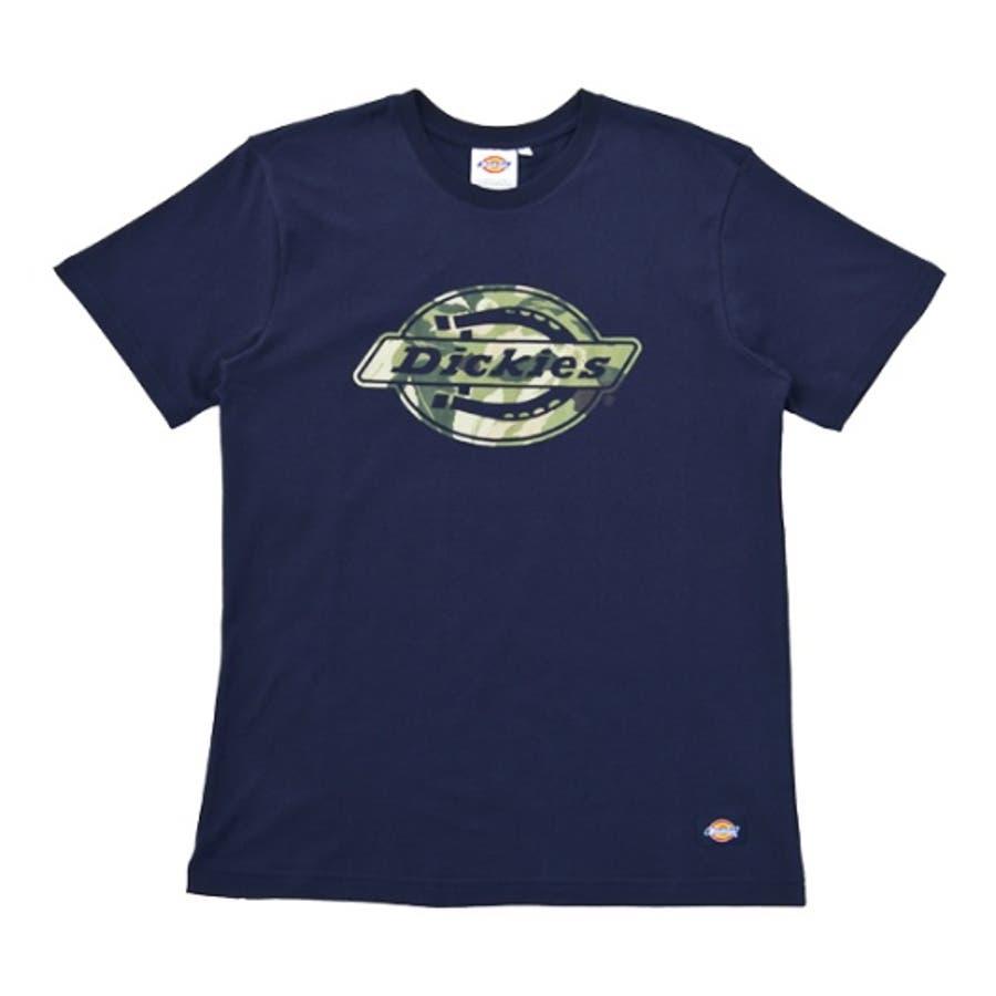幅広いジャンルで活用できる メンズファッション通販リーフ柄抜きロゴプリントTシャツ 故意