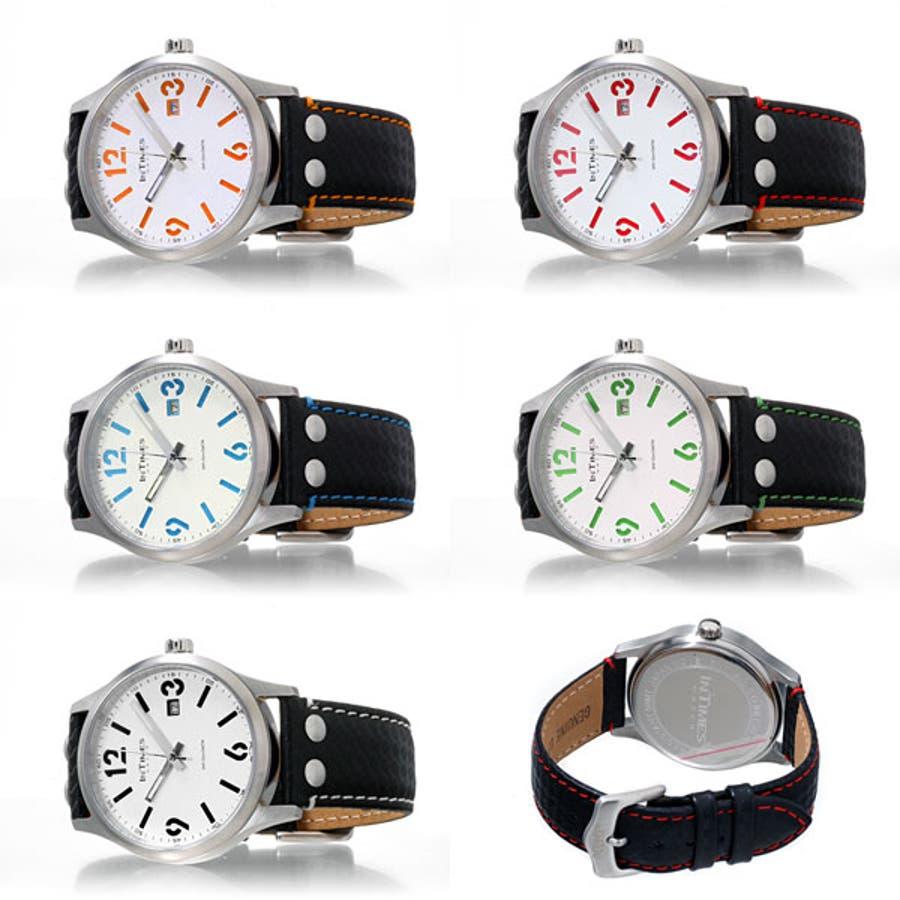 INTIMES インタイムス ステンレス・ケース/本革レザー・ベルト メンズ/レディース 腕時計 IT1066L 3