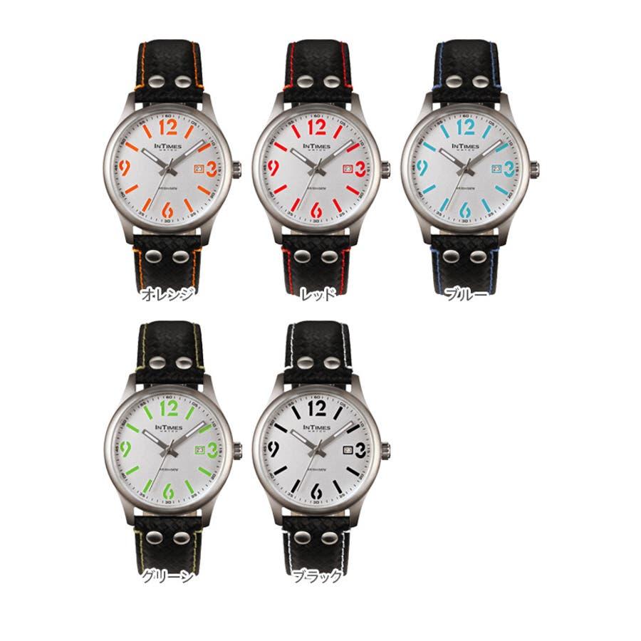 INTIMES インタイムス ステンレス・ケース/本革レザー・ベルト メンズ/レディース 腕時計 IT1066L 2