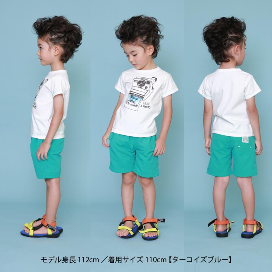 【2020夏 新作】ハーフパンツ(4分丈)/DILASH(ディラッシュ)夏 キッズ 男の子 女の子 子供服 4分丈 ズボン カジュアルシンプル 撥水加工 オレンジ グリーン 2
