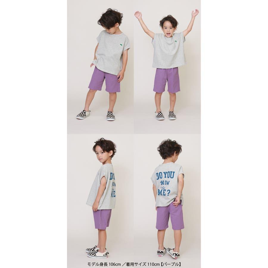 シアサッカーハーフパンツ(4分丈)/DILASH(ディラッシュ)夏 キッズ 子供服 男の子 女の子 ボトムス ハーフパンツ ズボン4分丈 柔らかい 涼しい 履きやすい 動きやすい 綿100% 黒 カーキ 紫 150cm 2
