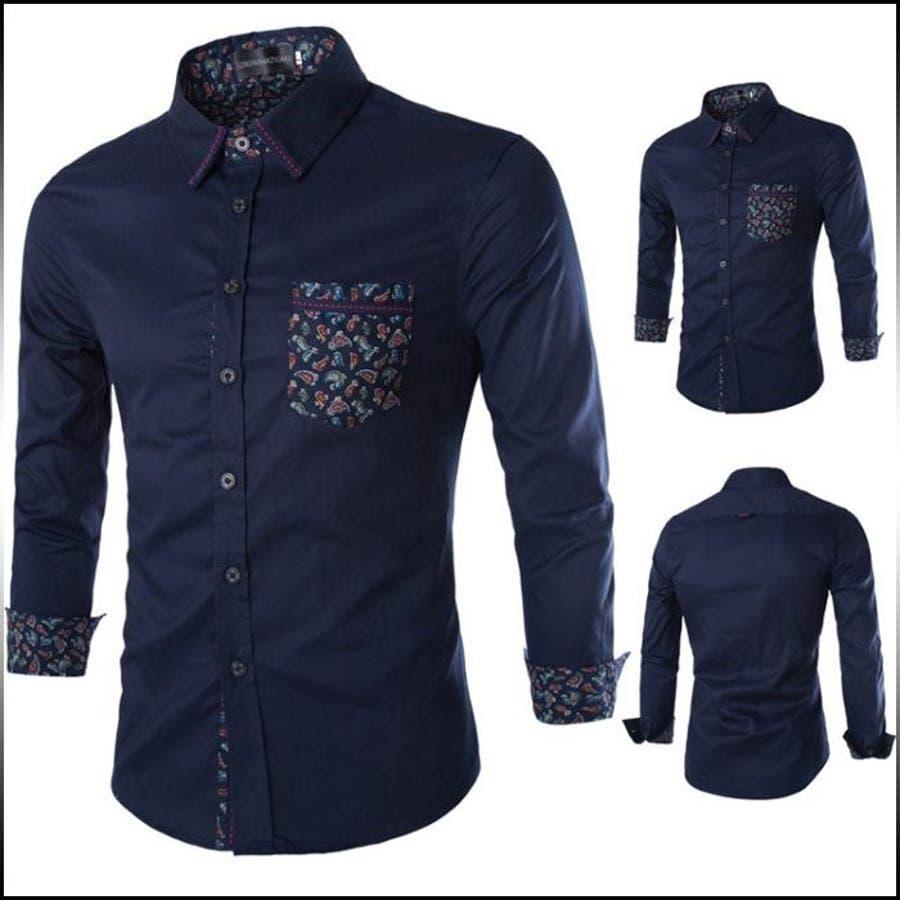 今、もっとも流行っている カジュアルシャツ メンズ トップス 長袖 柄切り替え ペイズリー 胸ポケット ステッチ ロールアップ きれいめ お兄系 コーデ 愚痴