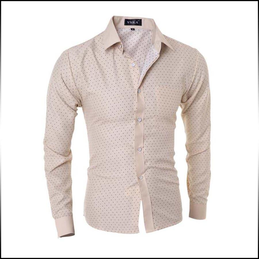 今期らしいスタイルになる カジュアルシャツ メンズ トップス 長袖 ドット柄 コーデ 約束
