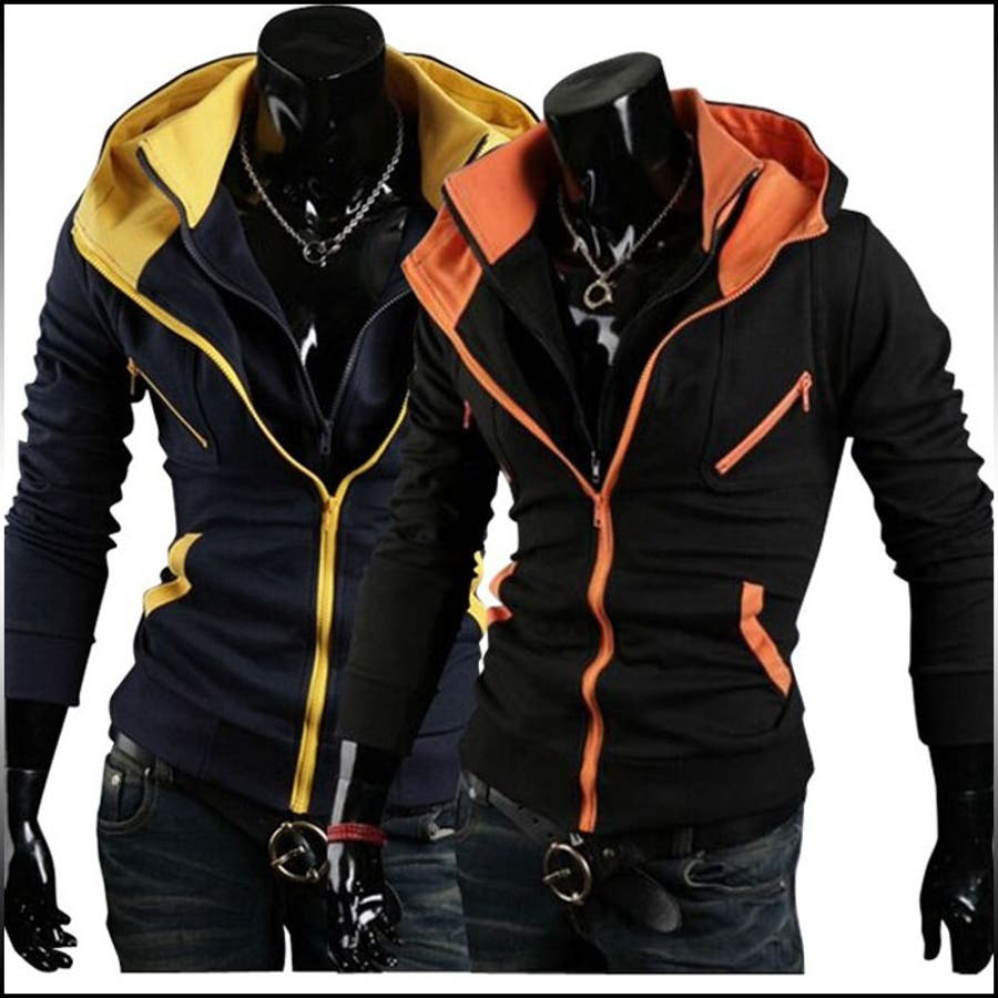このお値段でこのクオリティー パーカー メンズ トップス ジャケット ライダース ジップアップ レイヤード 重ね着風 お兄系 メンズファッション パーカ コーデアウター 豪傑