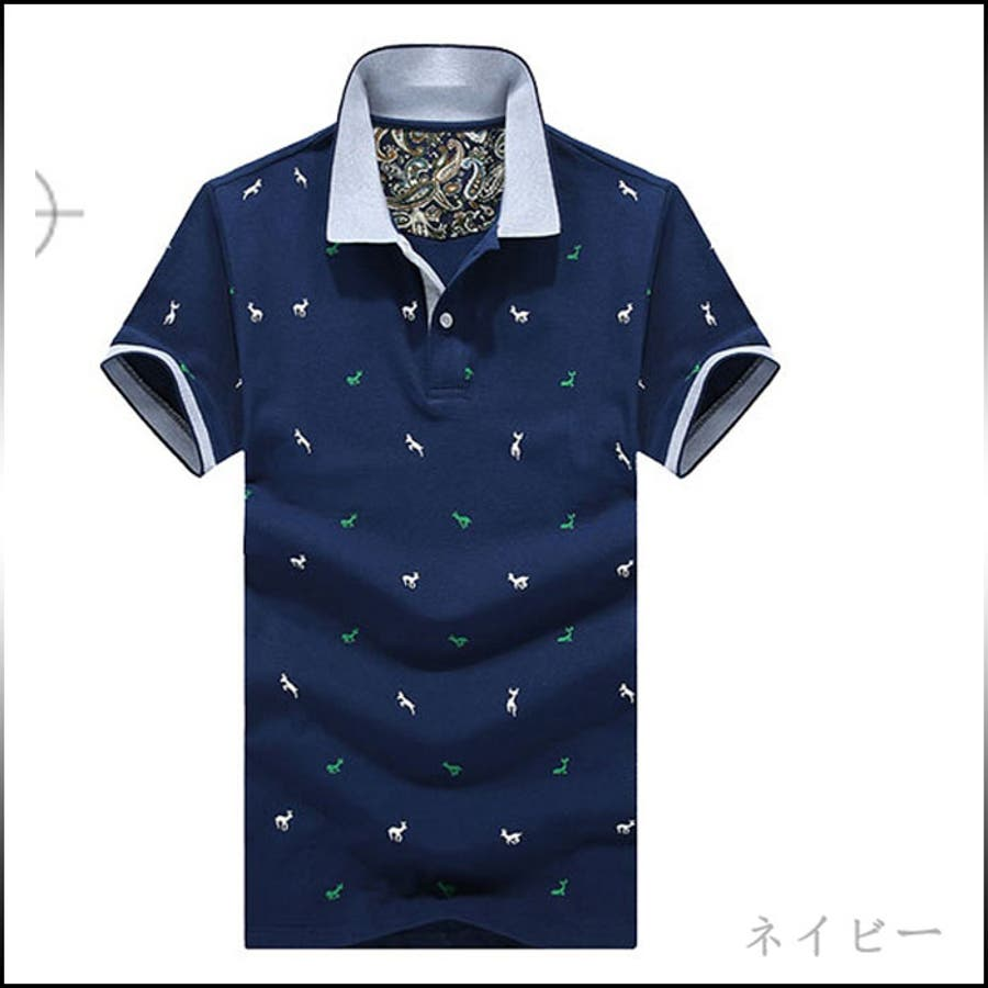 いい商品だと思う メンズファッション通販ポロシャツ メンズ トップス 半袖 Tシャツ プルオバー プリント 動物柄 切替 きれいめ カジュアル ゴルフウエア 大きいサイズメンズファッション 誤嚥