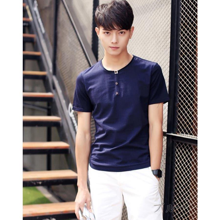 着心地が良く使える メンズファッション通販カジュアルシャツ メンズ トップス シャツ 半袖 クルーネック ボタン プルオーバー 切り替え 無地 きれい目 細身 スリムカジュアル 大きいサイズ メンズファッション コーデ 最後