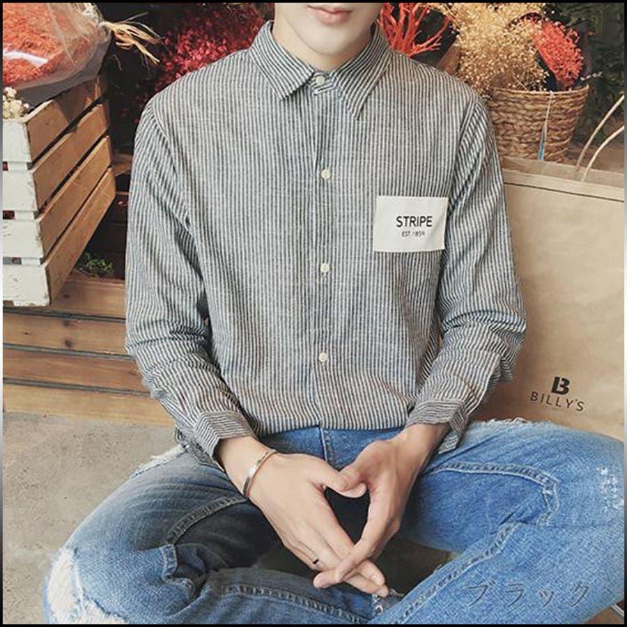 今季着こなしマスト カジュアルシャツ メンズ トップス シャツ 長袖 総柄 細ストライプ 羽織 シャツジャケット ロゴ シック 細身 きれい目 カジュアルメンズファッション 爆雷