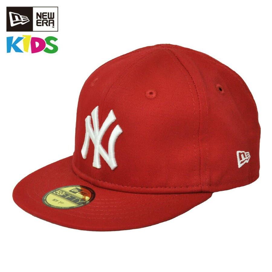 NEW ERA ニューエラ キッズ Kid's My 1st 59FIFTY ニューヨーク・ヤンキース スカーレット ×スノーホワイト [11225743] newera キャップ レディース メンズ CAP 帽子 NEWERA 1